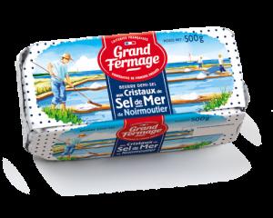Beurre aux cristaux de sel de Noirmoutier 250g Grand Fermage