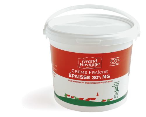 Crème fraîche épaisse 30% MG 5L Grand Fermage