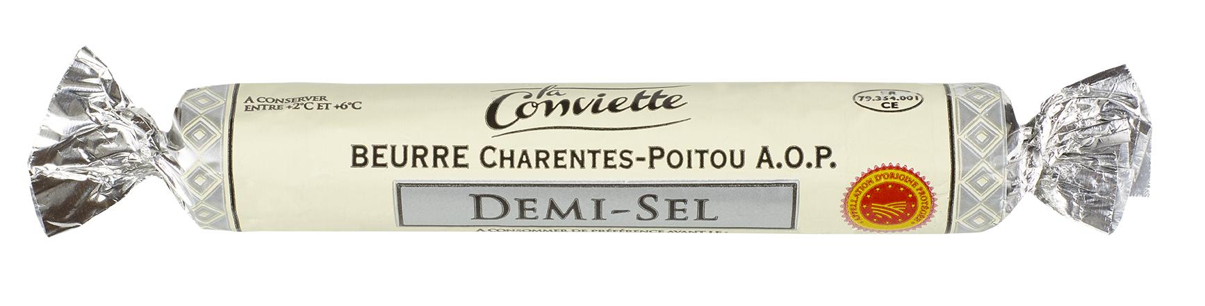 Beurre AOP demi-sel La Conviette portion