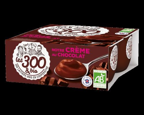 Crème dessert chocolat Les 300&BIO