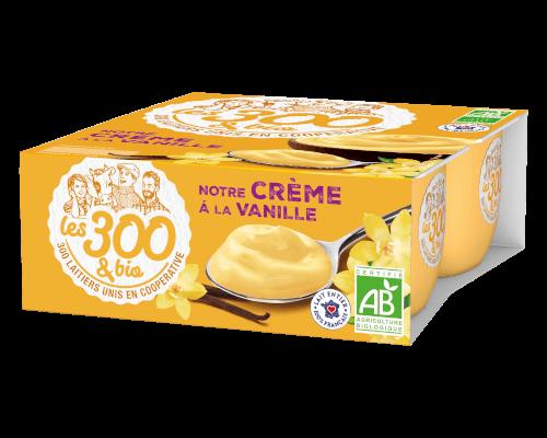 Crème dessert vanille Les 300&BIO