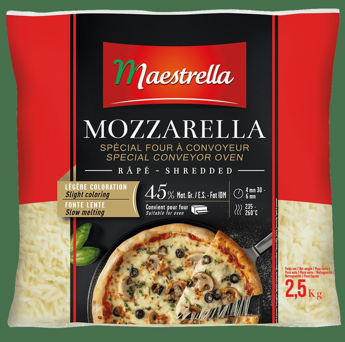 Mozzarella spéciale four à convoyeur râpée Maestrella